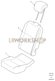Second Row Seat Covers Part Diagram