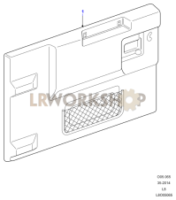 Rear End Door Casing Part Diagram