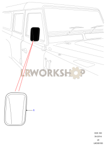 Wing Mirrors Part Diagram