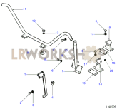 Roof Rack - Mounting Frame Lower Part Diagram
