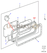 Side Window - Sliding Part Diagram