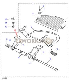 Rear Folding Step Part Diagram