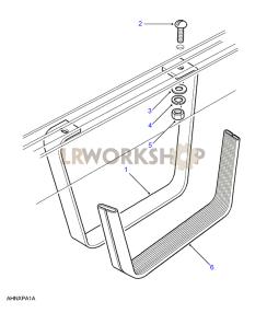 Side Stirrup Step Part Diagram