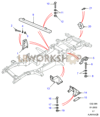 Chassis Fittings Part Diagram