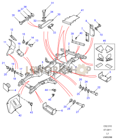 Chassis Frame Assembly - 90 Part Diagram
