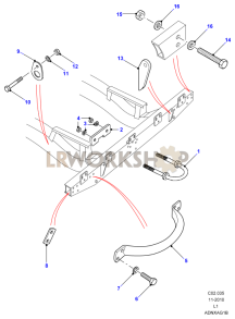 Lifting Handle & Lashing Ring Part Diagram