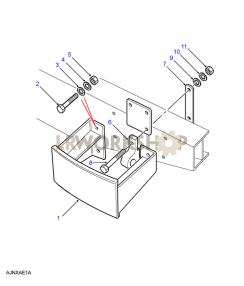 Rear Bumperettes & Lifting Rings Part Diagram