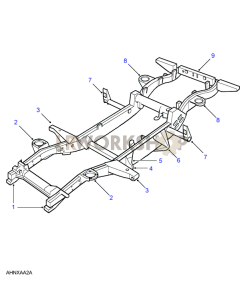 Replacement Outriggers Part Diagram