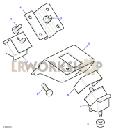 Gearbox/Transfer Box Mount Part Diagram