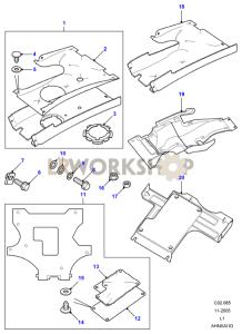 Undertray Assembly Part Diagram