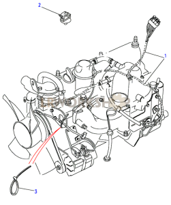 2.5 NA Engine Harness Part Diagram