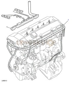 BMW M52 Engine Harness Part Diagram