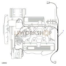 4.0L V8 Engine Harness Part Diagram