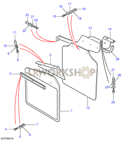 Mudguards 110/130 Part Diagram