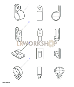 Cable Clips Part Diagram