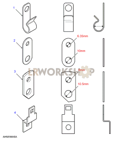 Cable Clips & Brackets Part Diagram
