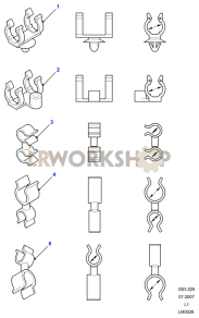 Cradle & Swivel Clips Part Diagram
