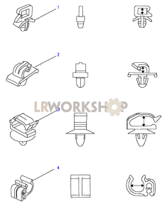 Panel & Edge Clips Part Diagram