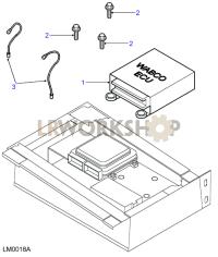 Anti-Lock Braking System ECU Part Diagram