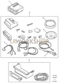 Radio Upgrade Kit Part Diagram