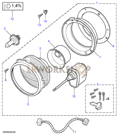 Headlamps Part Diagram