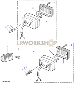 Reflectors, Fog Lamp & Reverse Lamp Part Diagram
