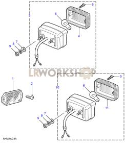 Reflectors, Fog Lamp & Reverse Lamp Part Diagram