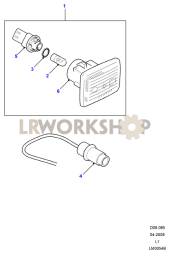 Side Repeater Lamps Part Diagram