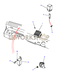 Dim Dip Unit & Glow Plug Timer Part Diagram