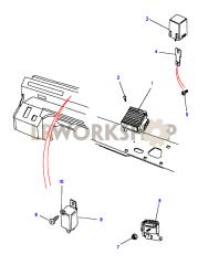 dim dip unit & glow plug timer part diagram