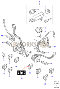 Steering Column Part Diagram