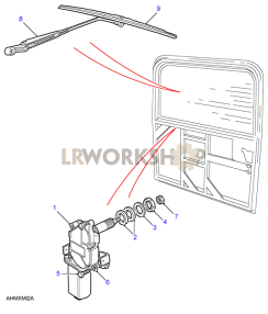 Rear Screen Wiper Part Diagram