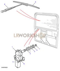 Rear Screen Wiper Part Diagram