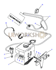 Windscreen Washer Part Diagram