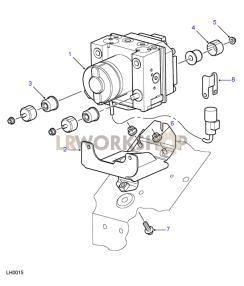 ABS Modulator Part Diagram
