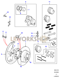 Rear Brake Calipers and Discs Part Diagram