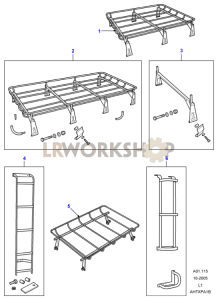 Roof Racks Part Diagram