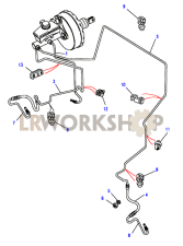 Front brake pipes Part Diagram