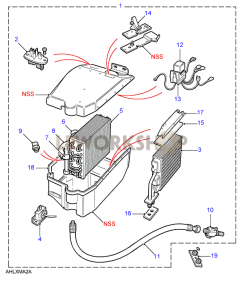 Evaporator Assembly - LHD Part Diagram