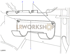 Evaporator Bracket Part Diagram
