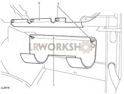 Evaporator Bracket Part Diagram