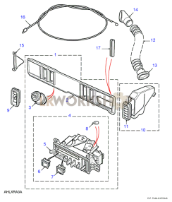 Facia Assembly - RHD Part Diagram