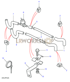 Heater Pipes Part Diagram