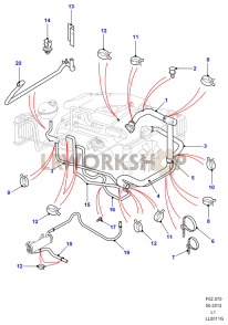 Radiator Hoses Part Diagram