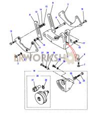 Air Conditioning Pump Fixings Part Diagram