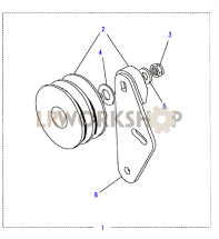 Air Conditioning Pump Idler Pulley Part Diagram