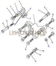 Alternator Fixings Part Diagram
