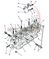 Cylinder Head Part Diagram