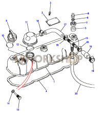 Rocker Cover & Breather Part Diagram