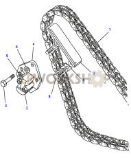 Timing Chain & Mechanical Tensioner Part Diagram